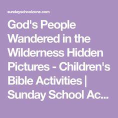 Gods People Wandered In The Wilderness Hidden Pictures