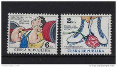 MINT - SPORT ( Weight lifting, figure skating ) - 1993 - CZECH REPUBLIC - ** / MNH - Delcampe.net