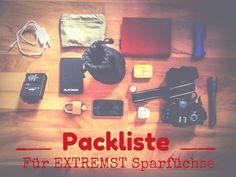 Packliste für extremst-sparfuchsige Backpacker