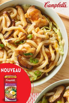 This thick noodle stir-fry is filled with rich flavour, thanks to Campbell's® Pork Ramen Broth – and you can make it in less than 30 minutes. Supper Recipes, Great Recipes, Favorite Recipes, Stir Fry Recipes, Cooking Recipes, Campbells Recipes, Asian Recipes, Healthy Recipes, Asian Cooking