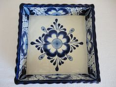 Hey, I found this really awesome Etsy listing at https://www.etsy.com/listing/182320888/square-talavera-ceramic-snack-tray-blue
