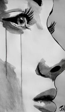 Loui Jover (Australia) - Awakening  Pig Tails. Pen And...