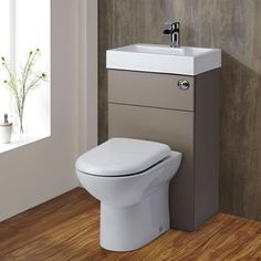 Maximise space with the Milano 2-in-1 toilet and basin combination unit.