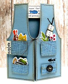 fishing vest card...so cute :)