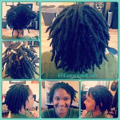 Style: Loc Retight/Loc Maintenance (Palm-rolled, twisted)  Client's Hair Type: 4b/c  Hair Added: NA Products Used: Coiled! by Conscious Coils (Original Refresher Spray and Loc & Styling Gel)   Time: 1hr 35mins  Style Duration: Retight every 4-5weeks  #consciouscoils #consciouscoilssalon #coiledbyconsciouscoils