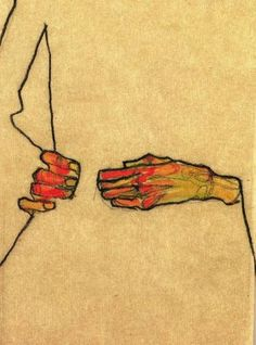 Egon Schiele: title unknown. Minimalism at its haunting best.