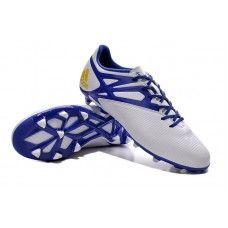 san francisco d266e dadaf Adidas MESSI 15.3 FG Branco Prime Azul Core preto sapatos de futebol  baratos Adidas Messi,