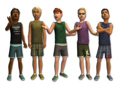 Mod The Sims - Summer Outfits for Boys