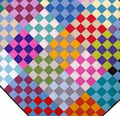 This is a listing for the Be Squared Quilt Pattern (pdf file) ~ a modern quilt design using colorful solid fabrics, and is suitable for a beginner . Star Quilts, Scrappy Quilts, Kid Quilts, Baby Quilts, Quilting Projects, Quilting Designs, Quilt Design, Quilting Tips, Sewing Projects