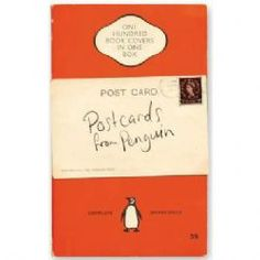 100 Postcards from Penguin{one hundred postcards in a gorgeous book-shaped box. Each one features a different and iconic Penguin book cover}Pack measures 17 x 11.5 x 6.5cm.   14£ FROM The Literary Gift Company
