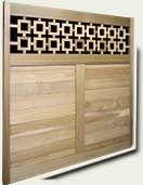 Custom Wood Fence Panel #12