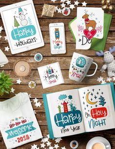 50 Christmas Cards with Quotes! by Qilli on @creativemarket