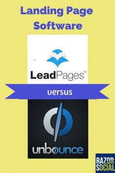 Landing Page Software: Leadpages Versus Unbounce Online Marketing Tools, Seo Marketing, E Commerce, Landing Page Optimization, Lead Page, Great Business Ideas, Software, What To Write About, Cool Writing