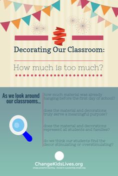 Decorating our classroom: How much is too much?