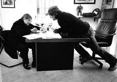 "Con Fernanda Pivano,  Bologna, Marzo 2004   Immagine tratta dal libro ""Vasco. Tabularasa"" di  Efrem Raimondi, Toni Thorimbert"