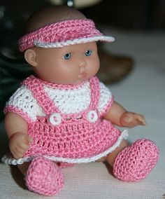 PATTERN Crochet 5 inch Berenguer Baby Doll Jumper by charpatterns,