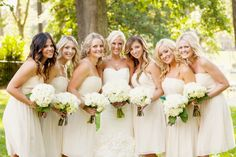 White Bridesmaids Dresses   photography by http://andigrantphotography.com/