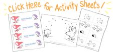Fox and Squirrel free downloadable pdf printables.