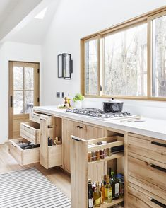 The kitchen in design darling Emily Henderson's Scandi-inspired weekend home is decked out with next-level storage solutions. Take a closer look in 10 Outstanding Organization Ideas to Steal from Emily Henderson's Mountain House. Photograph by Sara Tramp. Home Storage Solutions, Diy Storage, Storage Ideas, Smart Storage, Storage Hacks, Tool Storage, Knife Storage, Cheap Storage, Storage Units