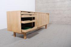 Enfilade meuble vintage 1950 1960 chêne design retro danois