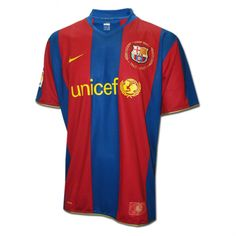 e94757d7433 Barcelona 2007 Home Retro Men Soccer Jersey Personalized Name and Number