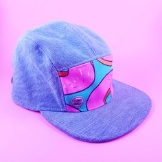 Will Work For Donuts - 5 panel cap Cute Donuts, 5 Panel Cap, Bad Hair Day, Vintage Denim, Snapback, Your Hair, Print Patterns, Baseball Hats, Cool Stuff