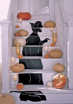 Make a spooky stairway vampire or witch for Halloween.  --Photo Credit: David Foster