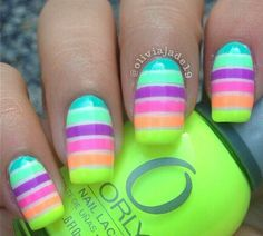 Pretty Neon Nail Art Designs for Your Inspiration Neon Nail Art, Neon Nails, Cute Nail Art, Love Nails, Diy Nails, Pastel Nails, Fabulous Nails, Gorgeous Nails, Pretty Nails