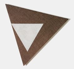 Dove Bradshaw, Angles VII [From Angles 12 Rotations], 2005, Gesso on linen over wood, 21¼ inches each side