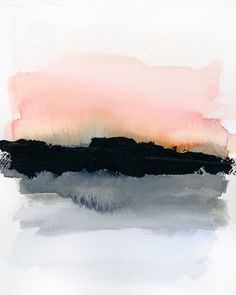 Mindful 007 // acrylic and watercolor art abstract Mindful Series Vol. Horizons — M Gloria Hunter Watercolor Paintings Abstract, Watercolor Landscape, Watercolor And Ink, Watercolor Illustration, Abstract Landscape, Watercolor Flowers, Simple Watercolor, Tattoo Watercolor, Watercolor Animals