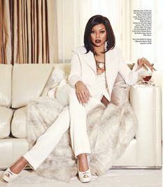 "soph-okonedo: ""Taraji P. Henson in 'MIAMI' Magazine's March 2015 Spring Style Issue "" Black Girls Rock, Black Girl Magic, Miami Magazine, Foto Cv, Taraji P Henson, White Suits, Beautiful Black Women, Beautiful People, Boss Lady"