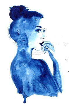 Painted Lady  print of original watercolor por MilkandHoneybread