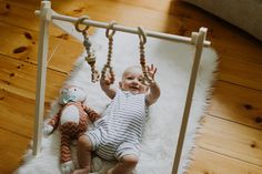 Wooden Baby Gym Ships Fast Foldable Eco-friendly Organic