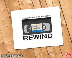 Digital Print 80's Retro VHS Tape Print  by OhBoyLoveItDigital