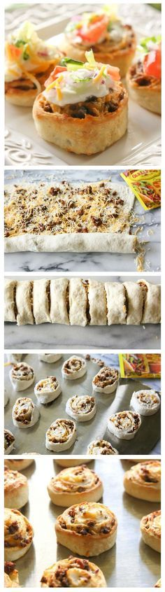 Taco Pizza Rolls. wonder if you could substitute with black beans instead of beef  // For more family resources visit www.ifamilykc.com! :)