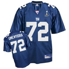 Reebok New York Giants  72 Osi Umenyiora Blue Authentic XLVI Super Bowl  Jersey ID  fb48b169b