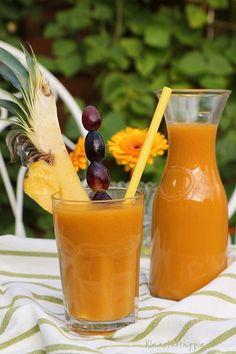 Frappé Mangue / Smoothie Mango Sun #vegan #glutenfrei  #kleinstadthippie @Mj0glutenVG #0GlutenVegeBrest #Frappé #Smoothie #Mango