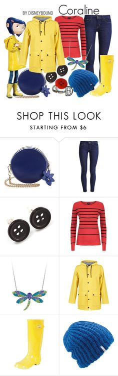 """Coraline"" by leslieakay ❤ liked on Polyvore featuring Levi's, Avalaya, Armani Jeans, Petit Bateau, Nomad Footwear, Coal, disney, disneybound and disneycharacter"