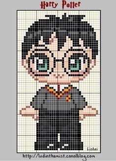 Allez, comme promis, voici le premier personnage de la mini-série Harry Potter, le héros éponyme : Harry Potter himself ! Voici la grille...