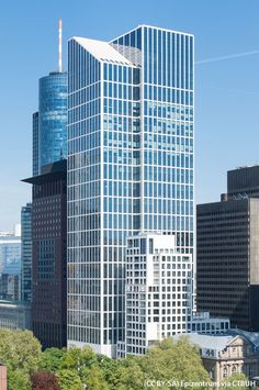 TaunusTurm, Frankfurt am Main-Germany Frankfurt, Building Exterior, Building Plans, Block B, Facade Design, Exterior Design, Glass Curtain Wall, Facade Architecture, Germany