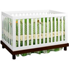 $299 baby mod olivia fixed side convertible crib espresso and white from walmart.com