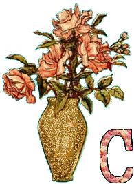 alphabets fleurs 1 - Page 20 Alphabet, Gifs, Buckets, Vases, Creations, Christmas Ornaments, Holiday Decor, Floral, Alpha Bet