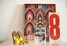 mood board- antique textile, typography and a bit of glitter!