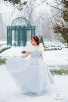 I truly felt like a princess in this beautiful blue Modern Trousseau wedding dress and stole