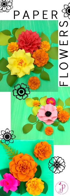 PAPER FLOWER TUTORIALS - CLICK LINK TO LEARN MORE! #paperflowers #paperflowertutorial