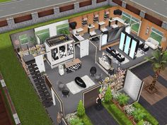 House 113 Salon - inspired by Joys Creative Finger Ground level #sims #simsfreeplay #simshousedesign