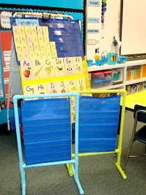 I love the idea of making small pocket chart stands out of PVC :)