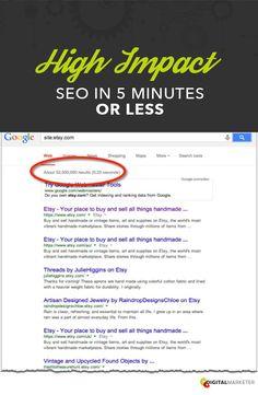 High Impact SEO in 5 Minutes or Less! | Digitalmarketer.com