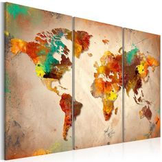 Quadro - Painted World - triptych