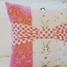 { b u n n i e s }  these super sweet bow bunny cushions will be available tonight in my etsy store - guilt free easter shopping  #eastergift #bunnycushion #handmade #bunny #shopsmall #easter #girlsroomdecor #girlsroom #nurserydecor #kidsinterior #girlsroom #etsyseller #wonderlandfabric  #madeinmelbourne #mygeorgieboy